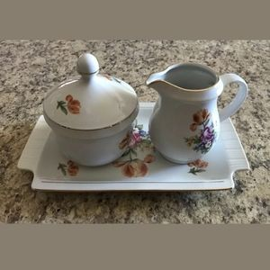 Vintage Kahla Creamer & Sugar Dish With Tray